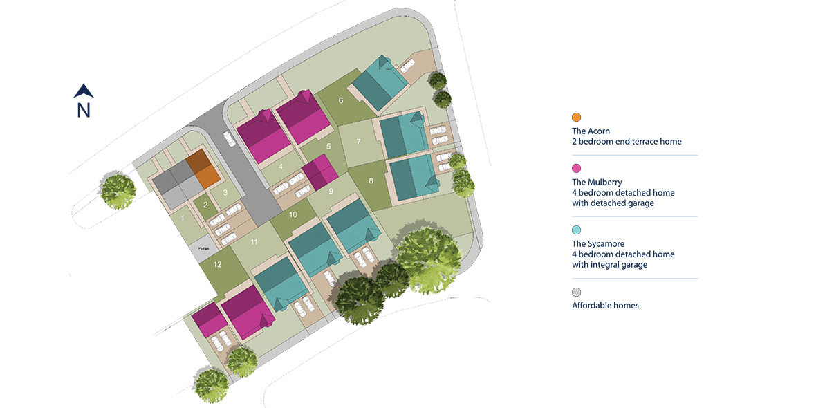 Aviation Gardens, Middleton St George Site Layout Image
