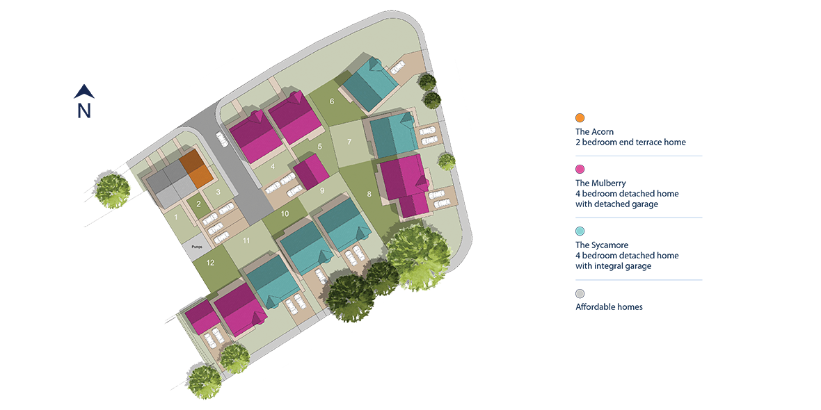 Aviation Gardens, Middleton St George Site Layout