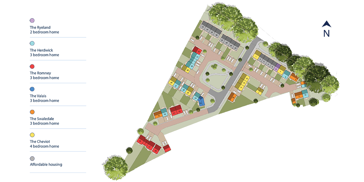 Eden Rise, Kirkby Stephen Site Layout