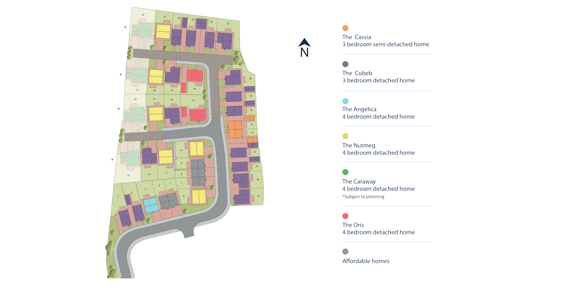 Juniper Grove, Ripon Site Layout Image